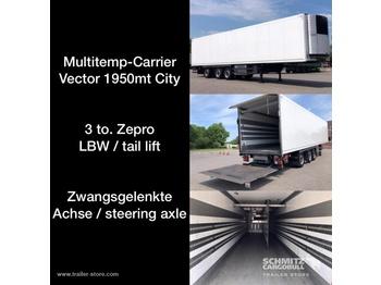 Closed box semi-trailer SCHMITZ Auflieger Tiefkühler Multitemp Taillift