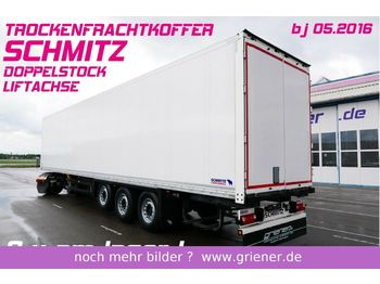 Closed box semi-trailer Schmitz Cargobull SKO 24/ DOPPELSTOCK /LIFTACHSE TOP 2 x vorhanden