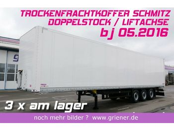 Closed box semi-trailer Schmitz Cargobull SKO 24/ DOPPELSTOCK /LIFTACHSE TOP 3 x vorhanden