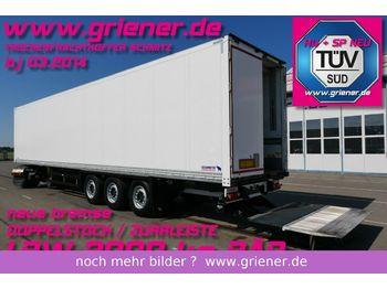 بصندوق مغلق نصف مقطورة Schmitz Cargobull SKO 24/ LBW 2000 kg DOPPELSTOCK n. bremse