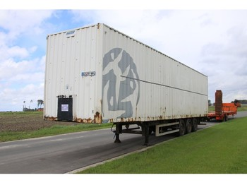 Closed box semi-trailer TOTAL TRAILOR CAISSE FOURGON - CONTAINER- TOLE ACIER/STEEL