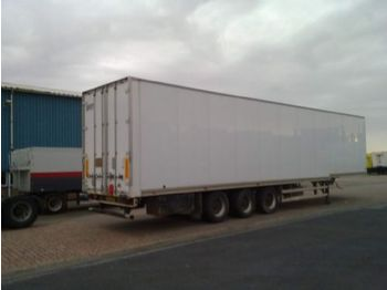 Talson 3ass confectie trailer - closed box semi-trailer
