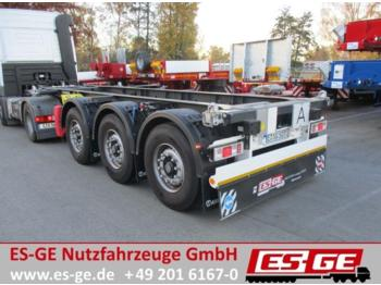 Container transporter/ swap body semi-trailer Krone 3-Achs-Containerchassis für 20 ft. Container