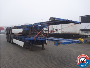 Container transporter/ swap body semi-trailer Krone SDC 27 Multi containerchassis Ausziehbar, lift-achse