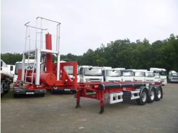 Van Hool 3-axle container chassis (tipping) + compressor - container transporter/ swap body semi-trailer