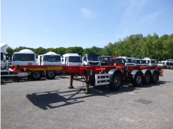 شاحنات الحاويات / جسم علوي قابل للتغيير نصف مقطورة Dennison 3-axle container combi trailer 20-40 ft (1 + 3 axles)