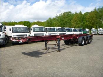 شاحنات الحاويات / جسم علوي قابل للتغيير نصف مقطورة Dennison 3-axle container trailer 20-30-40-45 ft