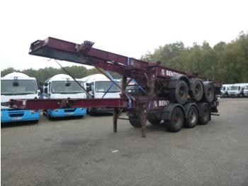 شاحنات الحاويات / جسم علوي قابل للتغيير نصف مقطورة Dennison Stack - 2 x container trailer 20-30-40 ft