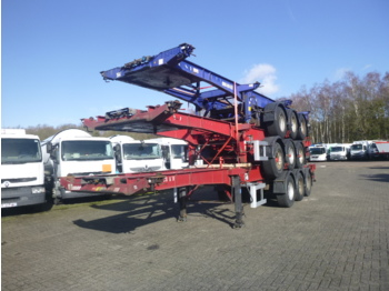 شاحنات الحاويات / جسم علوي قابل للتغيير نصف مقطورة Dennison Stack - 3 x container trailer 20-30-40-45 ft