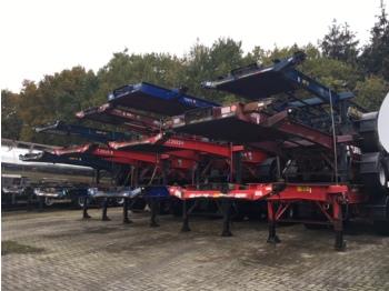 شاحنات الحاويات / جسم علوي قابل للتغيير نصف مقطورة Dennison Stack - 3 x container trailer 20-40-45 ft