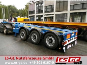 ES-GE 3-Achs-Containerchassis  - container transporter/ swap body semi-trailer