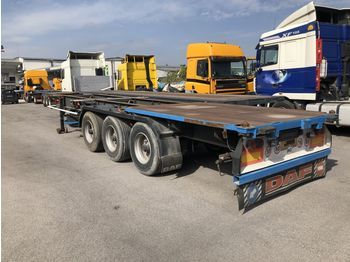 FRUEHAUF CONTAINER 40FT - 2X20FT,1X20FT - container transporter/ swap body semi-trailer