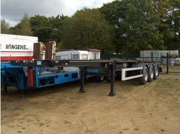 Kässbohrer 3 Achsen BWP - container transporter/ swap body semi-trailer
