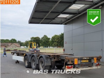Container transporter/ swap body semi-trailer Krone 2x20-1x30-1x40-1x45 ft. 3 axles Multifunctional Chassis