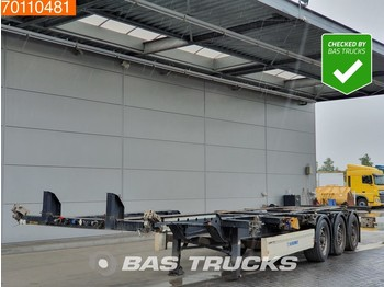 Container transporter/ swap body semi-trailer Krone 2x20-1x30-1x40ft. 3 axles Ausziehbar Extending Chassis