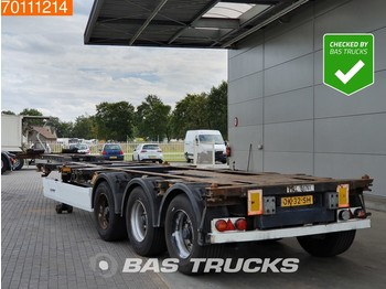 Container transporter/ swap body semi-trailer Krone SD 2x20-1x30-1x40-1x45 ft 3 axles 2x Ausziehbar Extending-Multifunctional-Chassis