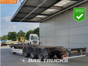 Container transporter/ swap body semi-trailer Krone SD 2x20-1x30-1x40-1x45 ft 3 axles 2x Ausziehbar Multifunctional-Chassis