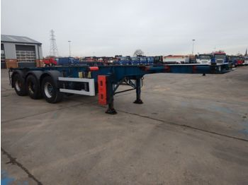 M&G 30FT FIXED SKELETAL TRAILER - 2010 - C292546 - container transporter/ swap body semi-trailer