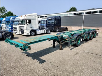 Pacton Containerchassis 4-assen / 1-as ROR - 2x Lift-assen - Meeloop stuur-as 07/2020 APK - container transporter/ swap body semi-trailer