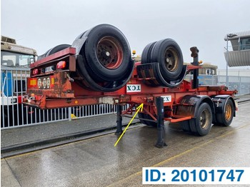 Container transporter/ swap body semi-trailer Renders Skelet 20 ft