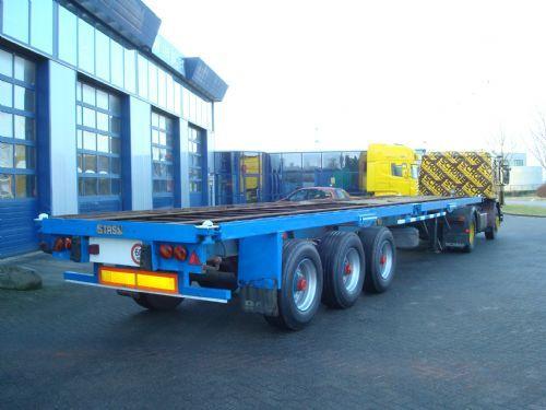 Container transporter/ swap body semi-trailer Stas 3-assige bladgvering  twist-locks - Truck1 ID: 623587