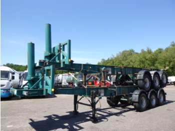 Container transporter/ swap body semi-trailer Tinsley Stack - 2 x 3-axle container trailer (tipping)