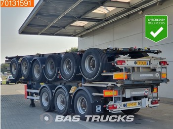 Container transporter/ swap body semi-trailer Van Hool Package of 3 3 axles ADR 1x 20 ft 1x30 ft Liftachse