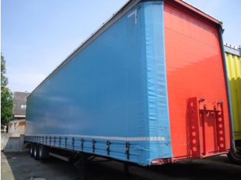 Tirsan + Mega + Edscha+Super Single 445/45 R19,5  - curtainsider semi-trailer