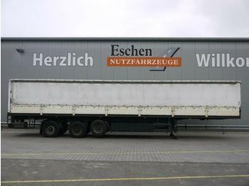 Curtainsider semi-trailer Eggers Bordwandauflieger, ausziehbar, Luft/Lift