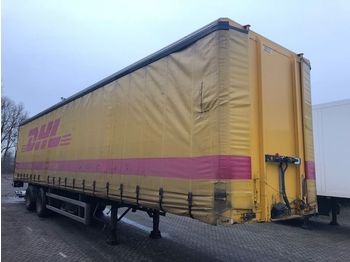 Curtainsider semi-trailer Fruehauf 2AS 1X AS STUURAS MET ONDERVOUWKLEP