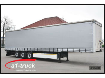 Curtainsider semi-trailer Krone 3 x SDP 27 , Bordwandsider, 1+ 3 = Liftachse, RS