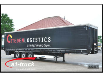 Curtainsider semi-trailer Krone 7 x SD Tautliner, Liftachse, Steckrungen, HU 03/