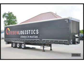Curtainsider semi-trailer Krone 7 x SD Tautliner, Liftachse, Steckrungen, HU 11/