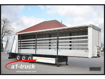 Curtainsider semi-trailer Krone SDP 27 , Bordwandsider, 1+ 3 = Liftachse, HU 05/
