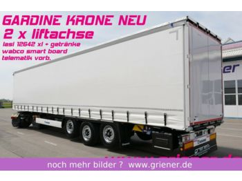 Curtainsider semi-trailer Krone SDP 27 eLB4_CS /2 x LIFT LASI 12642 XL