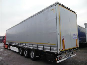Curtainsider semi-trailer Krone SD, LIFT ACHSE, PALETEN BOX