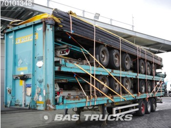 LAG 0-3-42 02 Stack of 5 Trailers BPW axles - curtainsider semi-trailer