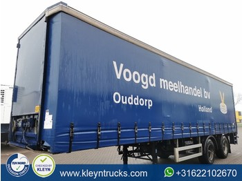 Pacton 2 AXLES STEERAXLE taillift hard wood f - curtainsider semi-trailer