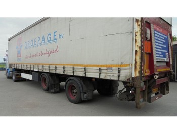 Pacton 2 axle city Lifting/steering axle/taillift - curtainsider semi-trailer