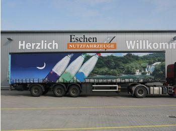 Curtainsider semi-trailer Schröder, Plane, Dhollandia-LBW, Zwangslenkung