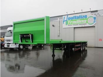 Dropside/ flatbed semi-trailer CE REMORQUES Full steel - drum brakes - container transport