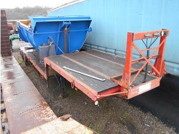 Dropside/ flatbed semi-trailer Demico col de cygne suspensions meca 2 essieux