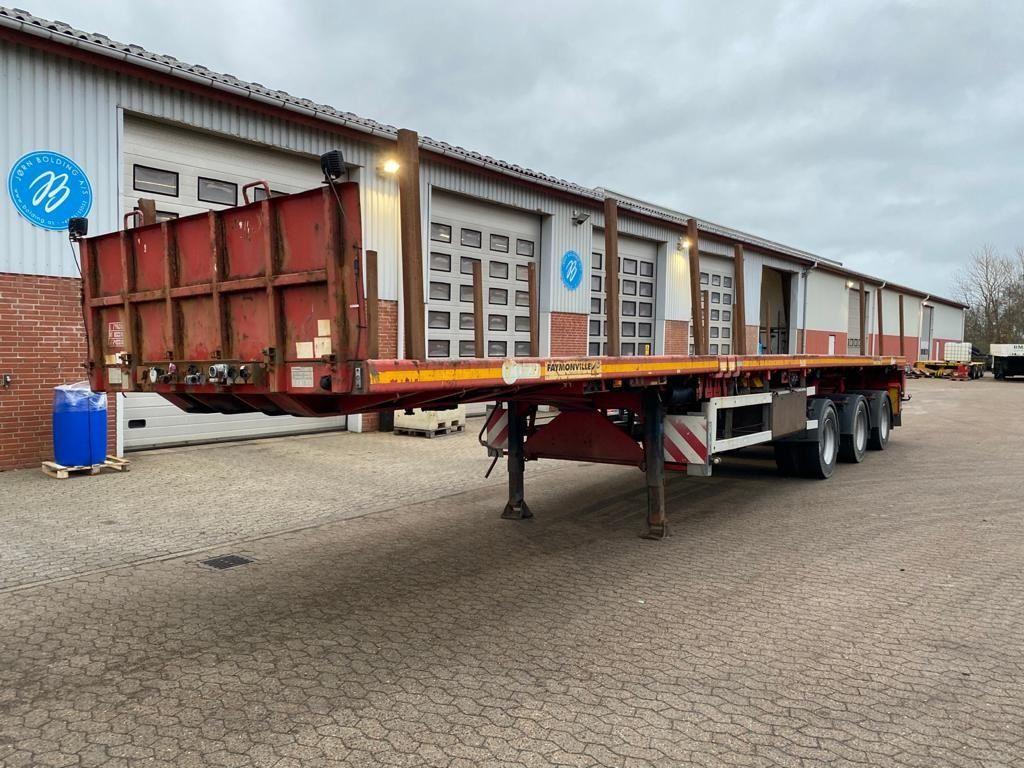 dropside/ flatbed semi-trailer Faymonville SPZ-3 AAA
