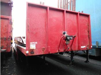 Dropside/ flatbed semi-trailer Kaiser col de cygne suspensions meca 2 essieux