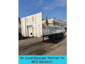 Dropside/ flatbed semi-trailer Meusburger Pritschen SANH 2-ACHS   KURZ 9 M Mitn.stapler