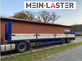 Meusburger Baustoffpritsche 13,6m  Lenkachse  NL 25.200 kg  - ημιρυμουλκούμενος επίπεδη
