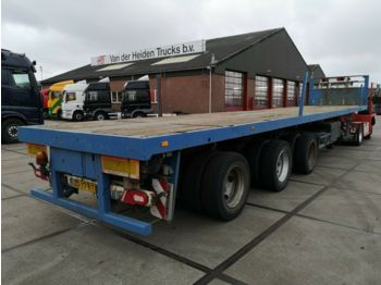 Nooteboom 0VB 48VV / 3X STEERING / BPW / EXTENDABLE 8 METE  - dropside semi-trailer