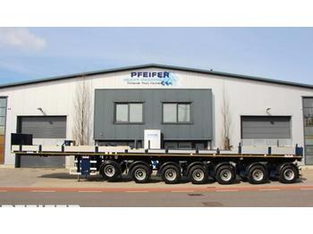 Dropside semi-trailer Nooteboom OVB 95-07 69t Load Capacity, Available For Rent.
