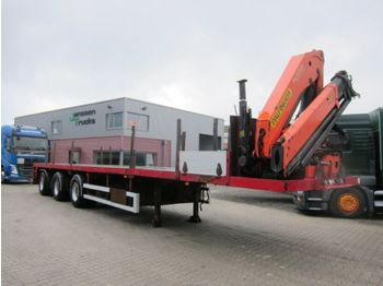 Flatbed semi-trailer Broshuis 3AOU Extandable PK23500 Funk/Remote Lenkachse