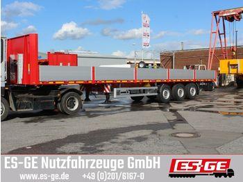 Flatbed semi-trailer ES-GE 3-Achs-Sattelanhänger - Bordwände